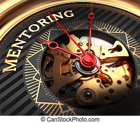 Mentoring on Black-Golden Watch Face. - Mentoring on Black-...