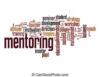 mentoring, wort, wolke