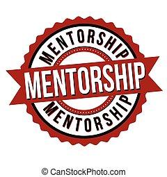Mentorship label or sticker
