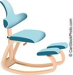 mentre, sedia ergonomica, rilassante, seduta