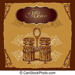 menu, afdækket