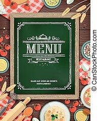 menu, agréable, restaurant