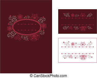 Menu and place card design vector illustration