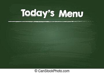 menu, aujourd'hui, restaurant