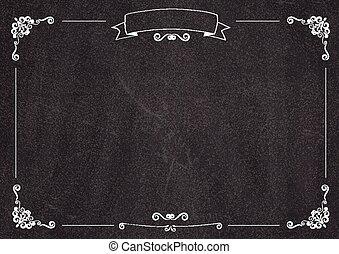 menu, backgroud, café, tableau noir