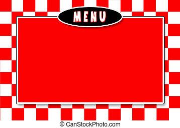 Menu Background-Red/White Checkered