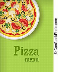 Menu background with pizza
