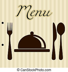 menu, baggrund, restaurant