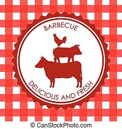menu, barbecue