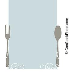 menu, blank