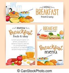 Menu breakfast