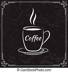 menu, café, conception