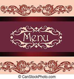 menu, café, conception, ou, restaurant