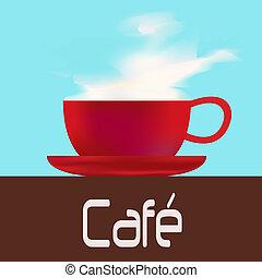 menu, café, modelo