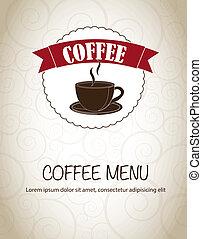 menu, café
