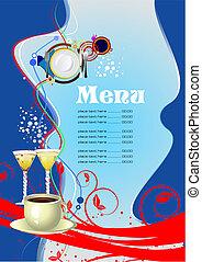 menu, (cafe), restaurant