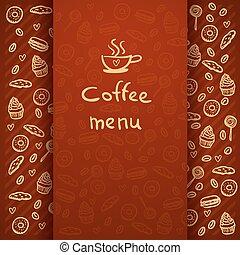 menu, caffè, break.