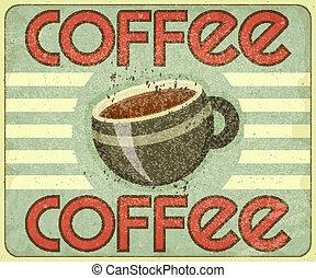 menu, caffè, coperchio, retro