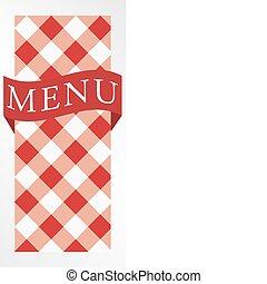 Menu Card - Red Gingham