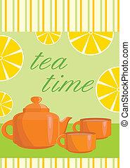 menu, card., servizio, tè