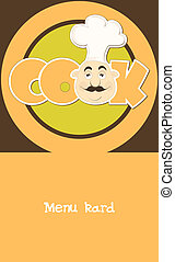 menu card. vector illustration