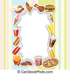 Menu Card with Fast food