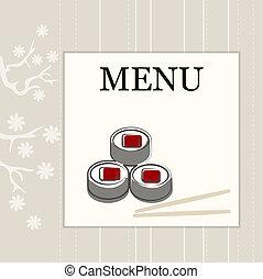 menu, cartão