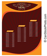menu, carte, gabarit