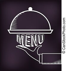 menu, chalkboard