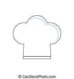 menu, chefs, restaurant, chapeau, conception