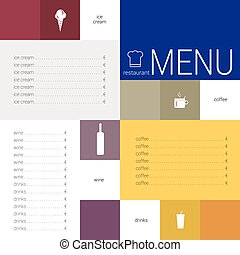 menu color vector