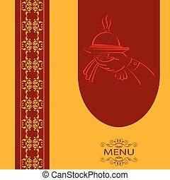 menu, conception, carte, gabarit