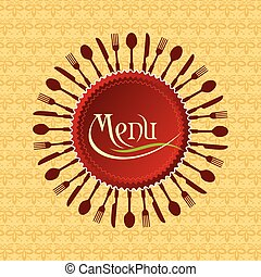 menu, conception, carte, restaurant