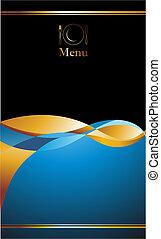 menu, conception, couverture