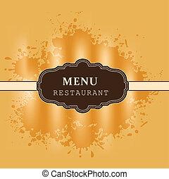 menu, conception, restaurant