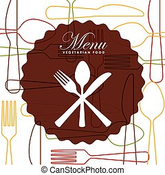 menu, conception, restaurant