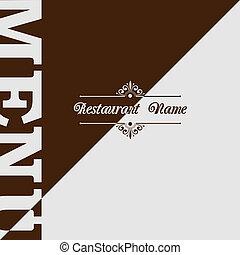 menu, conception, retro, restaurant