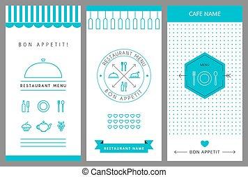 menu, conception, template., restaurant