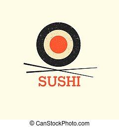 menu, conception, vecteur, sushi, gabarit