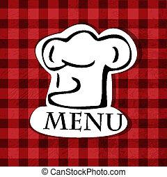 menu, conception, vector., restaurant