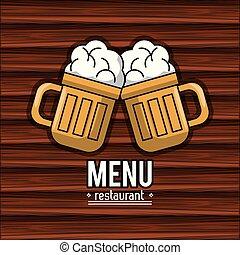 menu, couverture, restaurant