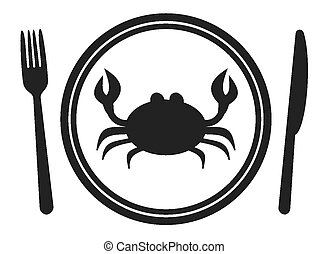 menu, crabe