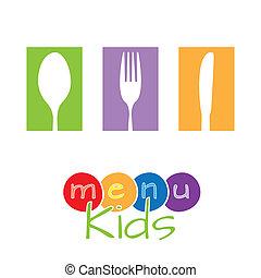 menu, crianças