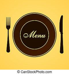 menu, dîner, déjeuner