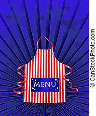 menu, dîneur américain