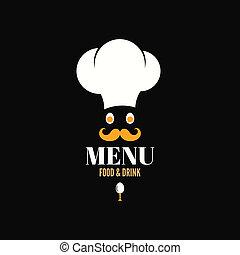 menu design chef egg concept