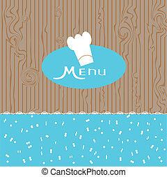 menu design for a nice blue backgro