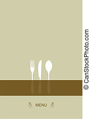 menu, design, jako, restaurace