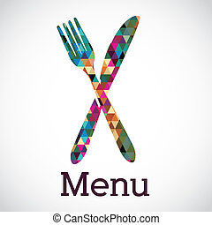 menu design over white background vector illustration