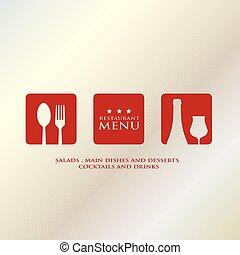 menu design presentation in metalli